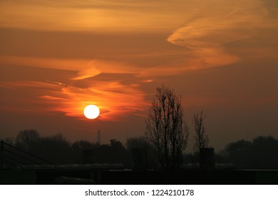 Sunrise at Budapest city