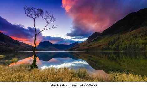 Sunrise at Buttermere in the Lake District, Cumbria, England