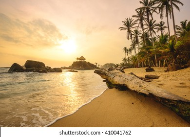 Sunrise at Cabo San Juan in Tayrona National Park