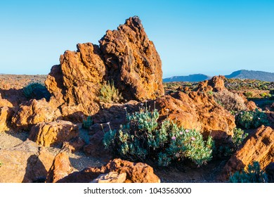 Sunrise in the caldera of El Teide volcano, Tenerife, Canary Islands