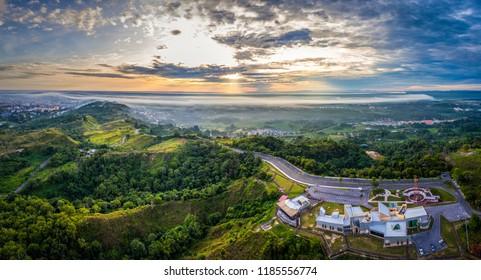 Sunrise at Canada Hill, Miri, Sarawak.