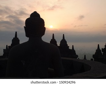 Sunrise at Candi Borobudur, Central Java, Indonesia
