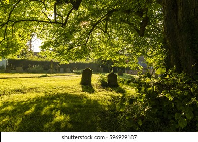 Sunrise in a cemetery