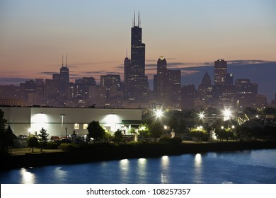 Sunrise in Chicago - seen summer time from south west side.