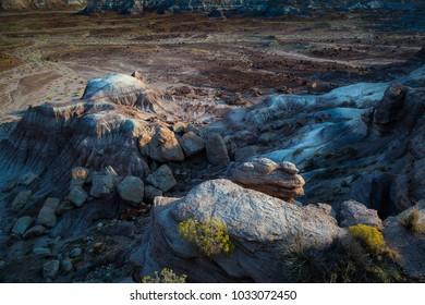 Sunrise at Chindi Point in Painted Desert National Park near Holbrook Arizona USA