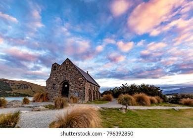 Sunrise at Church of Good Shepherd, New Zealand