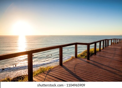 Sunrise with clear sky from North Burleigh Lookout, Gold Coast Australia
