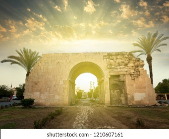 Sunrise at Cleopatra's Gate in Tarsus , Mersin city, Turkey