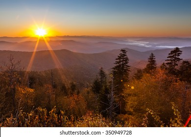 Sunrise at Clingmans Dome in Great Smoky Mountains National Park