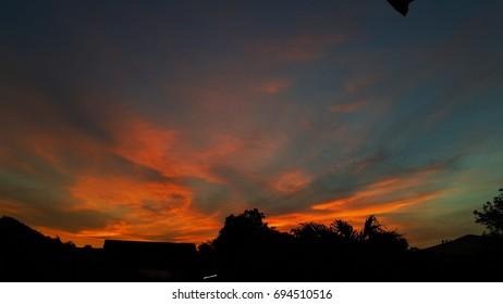 sunrise cloud