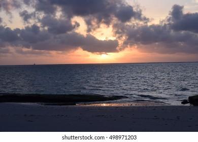 Sunrise in the Cloudy Sky