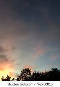sunrise with clound