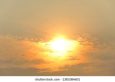 sunrise with clound beauty background