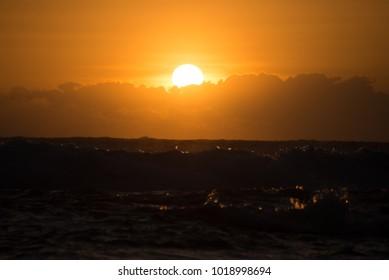 Sunrise and coastline
