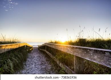 Sunrise in Cocoa Beach, Florida.