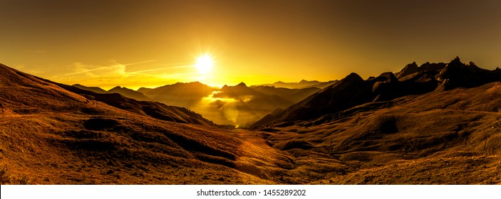 Sunrise at Col d'Aubisque in the French Pyrenees Europe