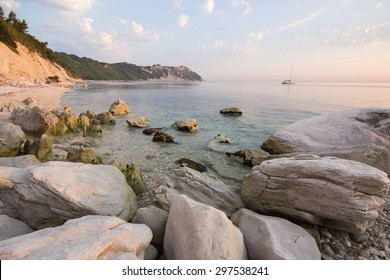 Sunrise at Conero beach, Marche, Italy