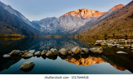 Sunrise at Convict Lake in California