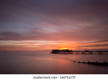 Sunrise at Cromer Pier on the North Norfolk coast