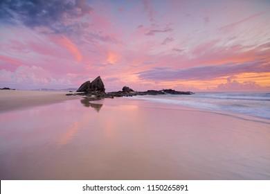 Sunrise at Currumbin, Gold Coast.
