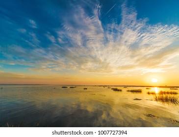 Sunrise at Danube Delta, Sulina, Romania