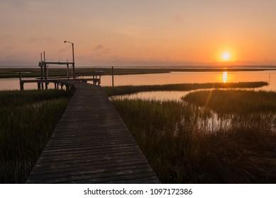 Sunrise At Davis Bay, Beaufort, North Carolin