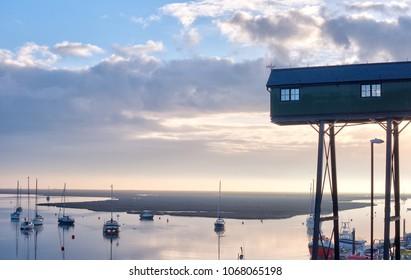 Sunrise at dawn on the North Norfolk coast