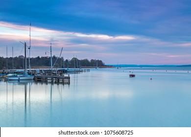 Sunrise in Diessen, Lake Ammersee, Bavaria, Germany