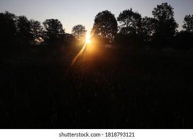 amanecer en Dwingelderveld, Países Bajos