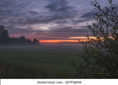 Sunrise early in the morning in central Finland.
