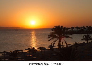 Sunrise in Egypt on the beach