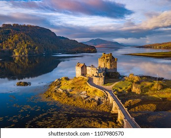 Sunrise at Eilean Donan Castle, Scottish Highlands