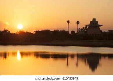 Sunrise at El Gouna, Red Sea, Egypt.