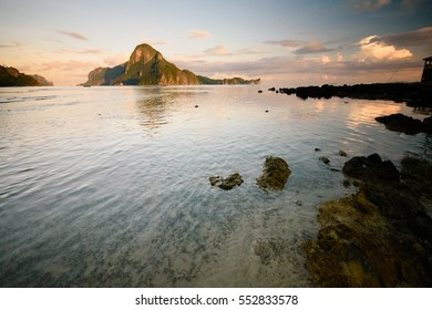 Sunrise at El Nido with a view of Callao Island.
