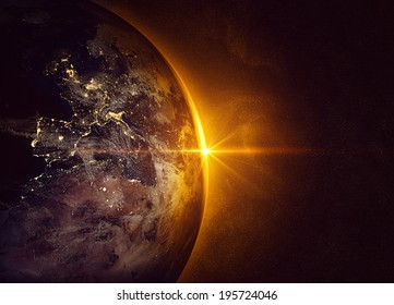 Sunrise (Elements of this image furnished by NASA)