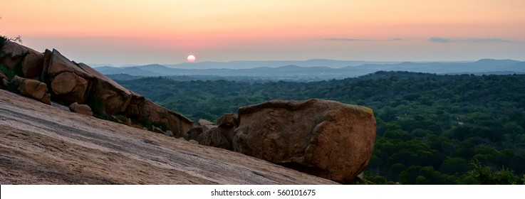 Sunrise From Enchanted Rock in Texas