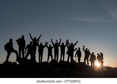 Sunrise energy and team spirit