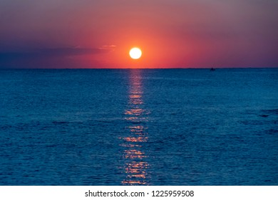 sunrise at Es Grau, Menorca, Spain