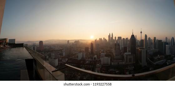 Sunrise of f kuala lumpur capital city of malaysia