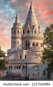 Sunrise at Fisherman Bastion in Budapest, Hungary.