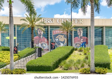 Sunrise, FL / Broward county - 06-14-19: BB&T Center, panther stadium, sunrise Florida