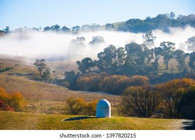 Sunrise Fog in Oberon. NSW. Australia.