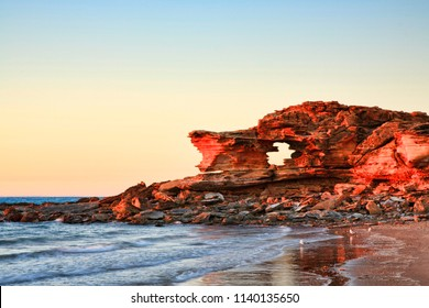 Sunrise at Gantheaume Point, Riddell Beach, Broome, Western Australia.