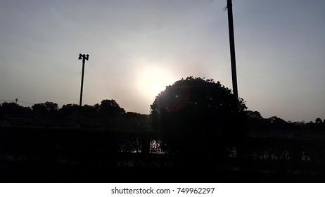 sunrise at garden