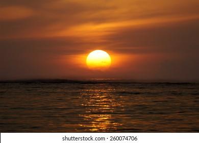 Sunrise at Geger Beach, Bali, Indonesia