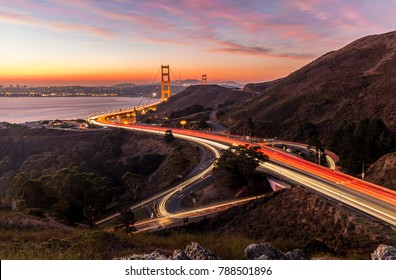 Sunrise at Golden Gate Bridge