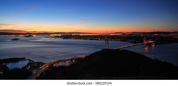 Sunrise at Golden Gate Bridge, San Francisco, CA