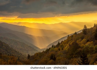 Sunrise in Great Smoky Mountains National Park