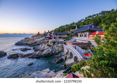 Sunrise at Haedondyonggungsa Temple View in Busan South Korea