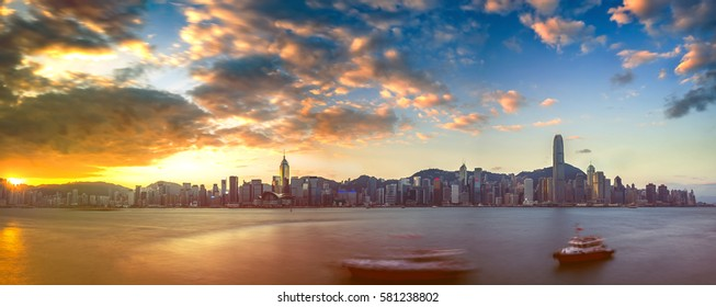Sunrise from Hong Kong island